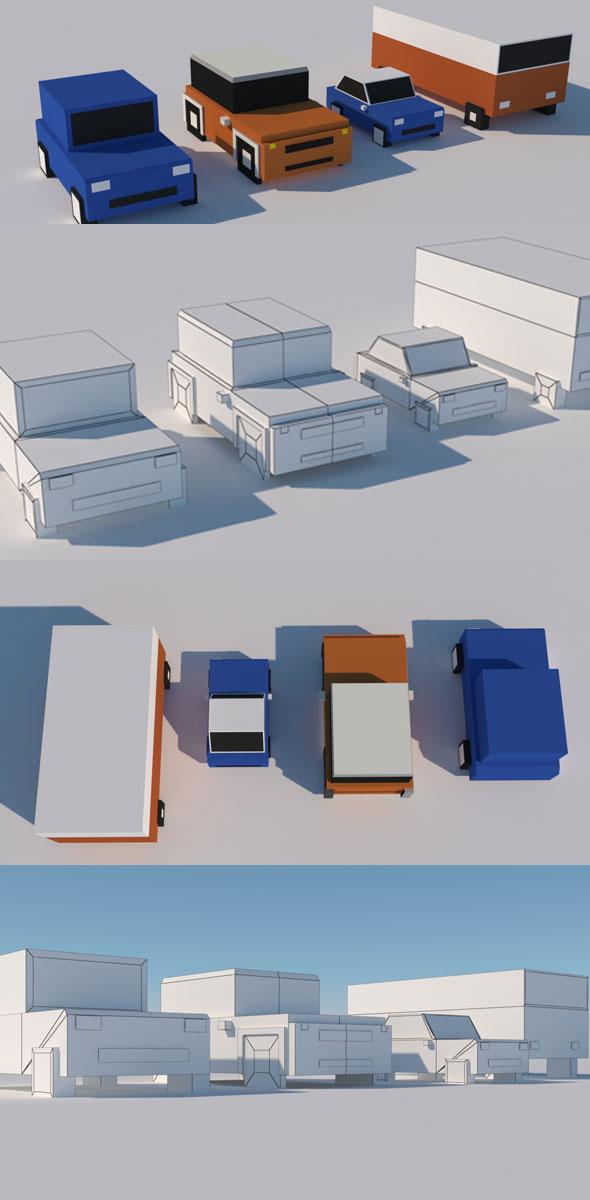 Cartoon Car Model - 3DOcean Item for Sale