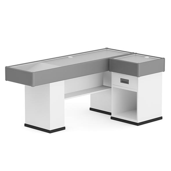 Grey Cashier Desk - 3DOcean Item for Sale