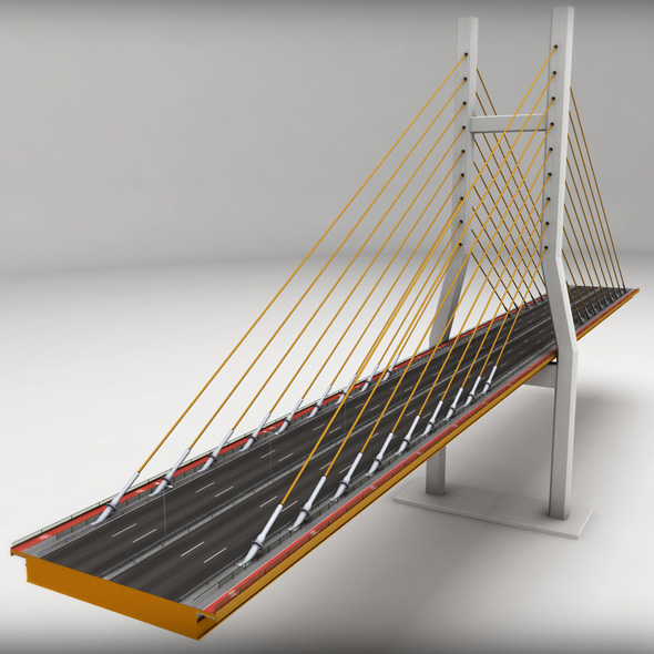Suspended Bridge 2 high detail - 3DOcean Item for Sale