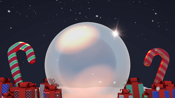 Download 3D Christmas Snow Globe and Gifts nulled download