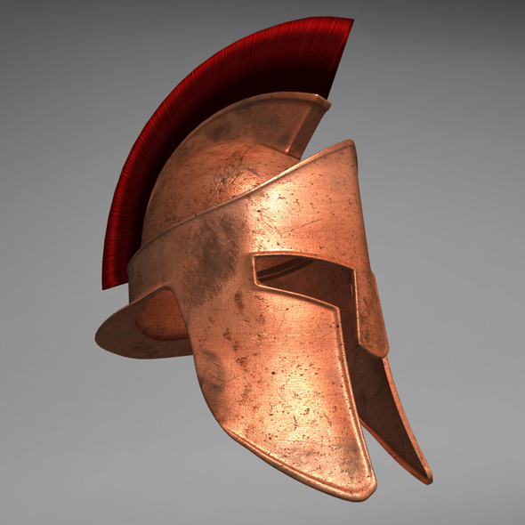 Spartan Helmet - 3DOcean Item for Sale