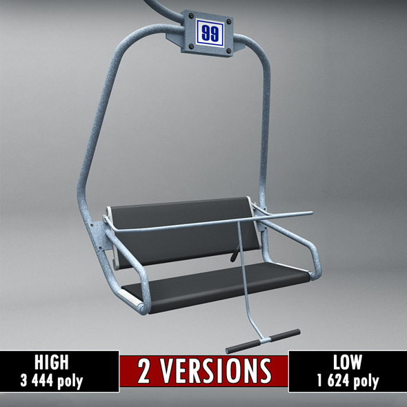 Ski lift chair small - 3DOcean Item for Sale