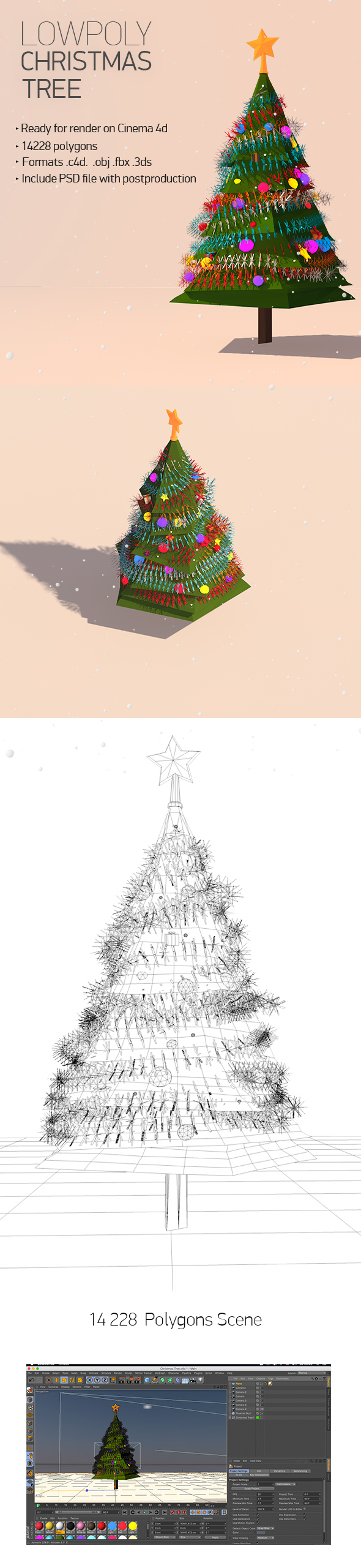 low poly christmas tree by antonmoek 3docean - Polytree Christmas Tree