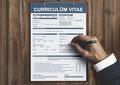 Curriculum Vitae Resume Job Application Concept