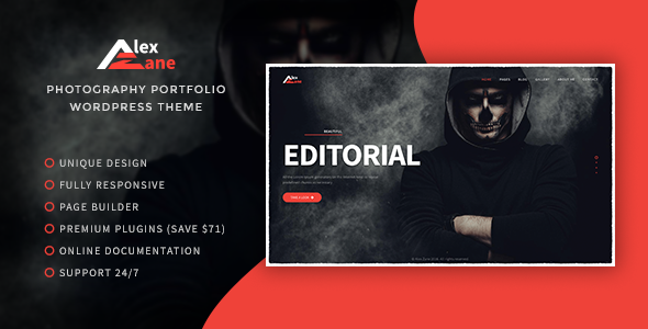 Alex Zane - Photo/Portfolio WordPress Theme (Portfolio) Alex Zane – Photo/Portfolio WordPress Theme (Portfolio) alex zane preview