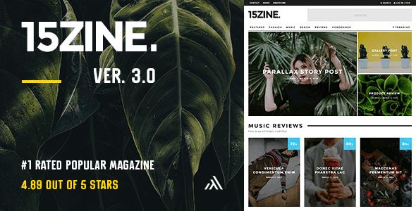 15zine magazine wordpress theme preview 2016 post.  large preview - 15Zine - HD Magazine / Newspaper WordPress Theme