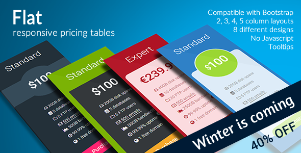 Download Flat - Responsive Pricing Tables