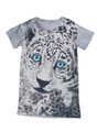 Grey T-shirt with print tiger.