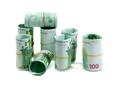 Denominations, 100 euros rolls.