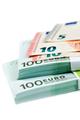 Banknotes 100, 10 and 5 euros