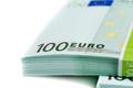 stack of banknotes 100 euros