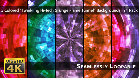 Download Twinkling Hi-Tech Grunge Flame Tunnel - Pack 07 nulled download