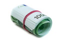 One hundred euro banknotes roll