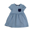 Blue striped dress, isolate
