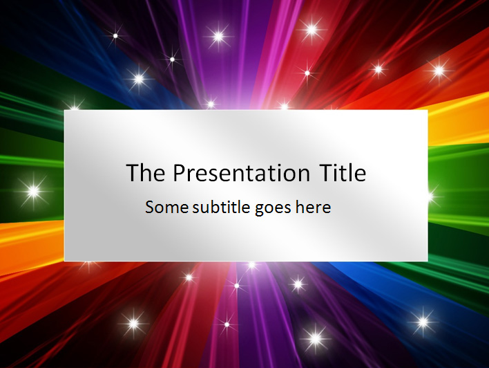 colorful presentation template, Modern powerpoint