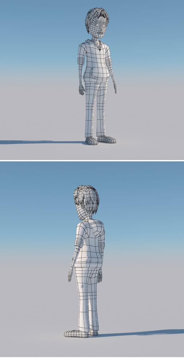 3D Boy Model - 3DOcean Item for Sale
