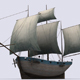 Small sailing ship