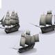 Three sailing ship