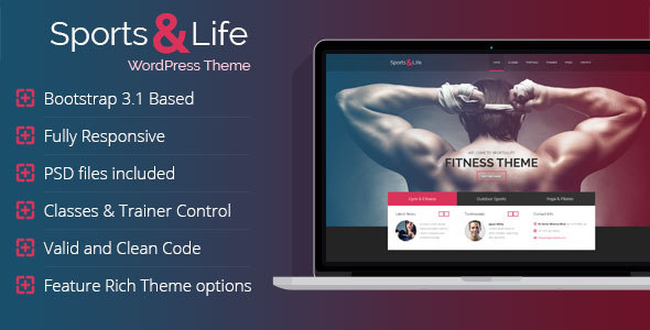 Sports & Life - Gym and Fitness WordPress Theme