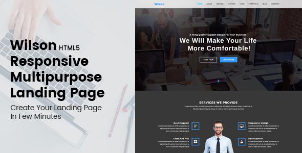 Wilson - HTML5 Responsive Multipurpose Landing Page
