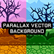 Parallax Vector Game Background with Tileset - Vertical & Horizontal