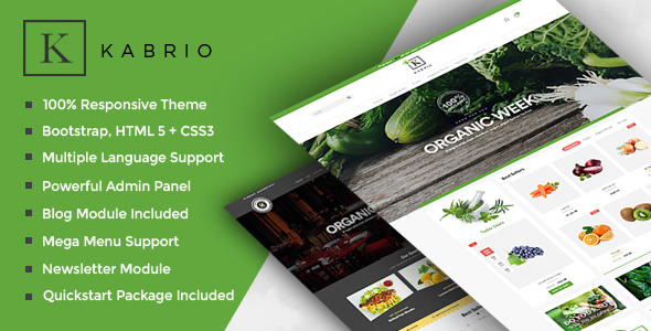 Kabrio - Responsive OpenCart Theme