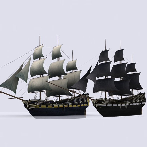 Sailing warship - 3DOcean Item for Sale