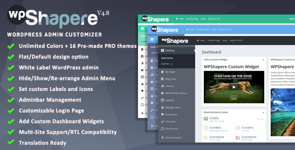 WPShapere 4.8 - WordPress Admin Theme