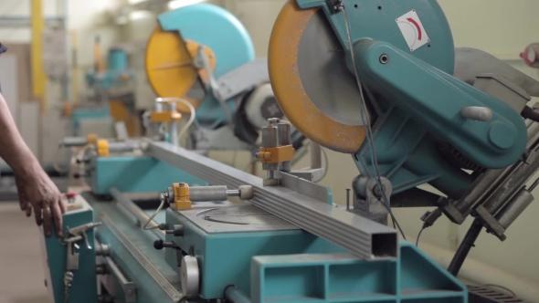 VideoHive Aluminium Profile Cutting Machine 19109476
