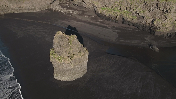 VideoHive Rock On The Reynisfjara Black Sand Beach 19109477