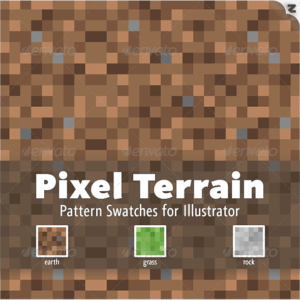 GraphicRiver Pixel Terrain Pattern Swatches 221247