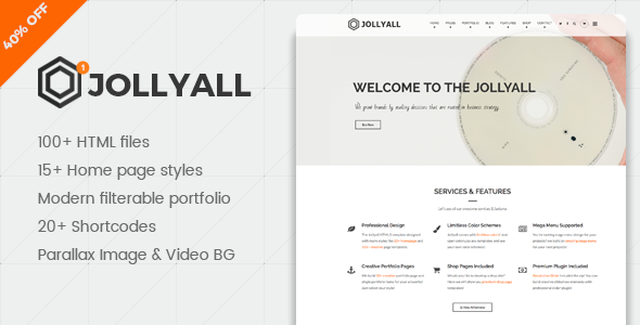 Jollyque – Onepage Portfolio HTML5 Website Template