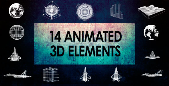 14 Animated 3D Elements