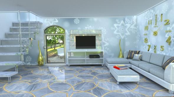 goldgray interior - 3DOcean Item for Sale
