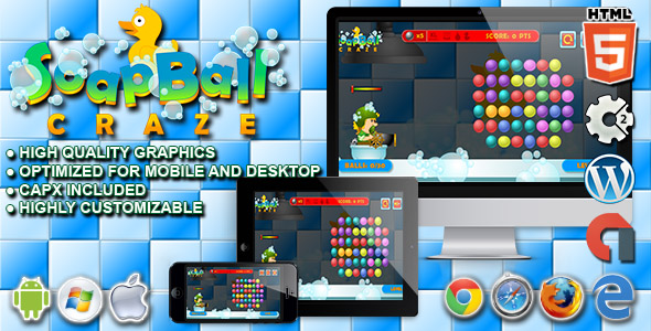 Soap Ball Craze - HTML5 Construct Physic Game
