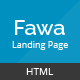 Fawa - One Page Landing Template