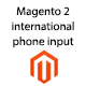 Magento 2 international phone input