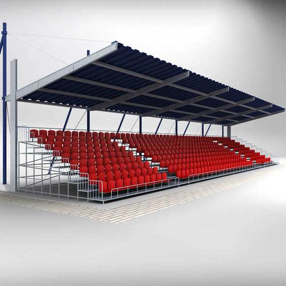Stadium Seating Tribune Canopy 2 - 3DOcean Item for Sale