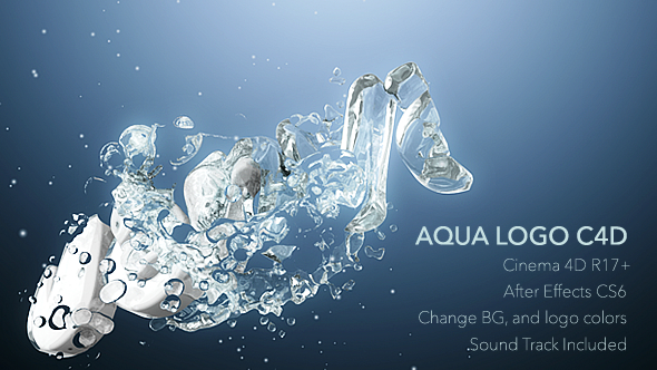Download Aqua Logo C4D Animation nulled download