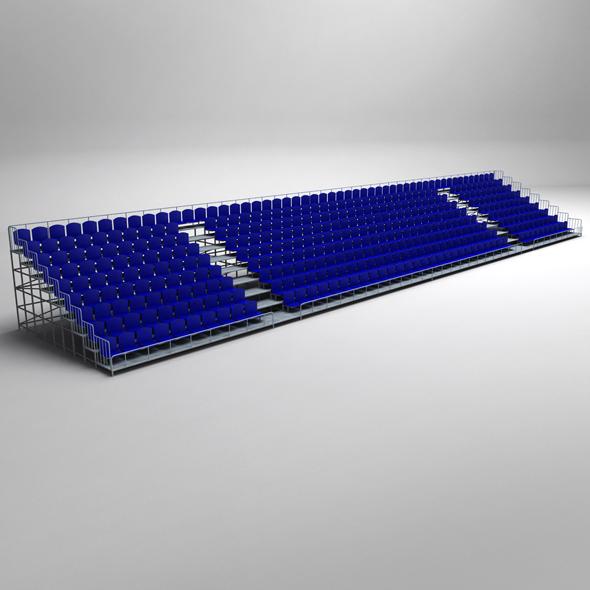 Stadium Concrete Seating Tribune - 3DOcean Item for Sale