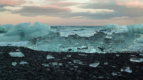 VideoHive Waves Crashing On The Ice 19117123