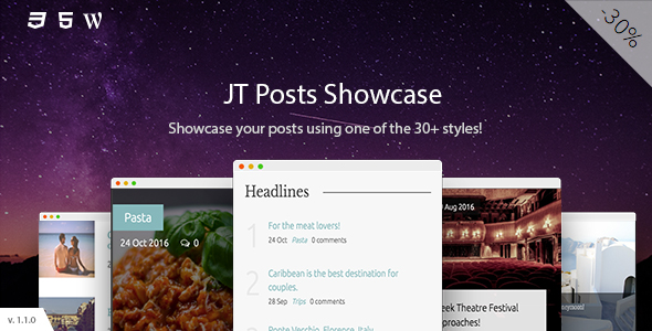 Download JT Posts Showcase nulled download