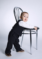 cute little boy with chair