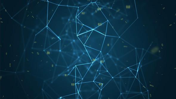 Digital Data Network Abstract Background - Revolving V2