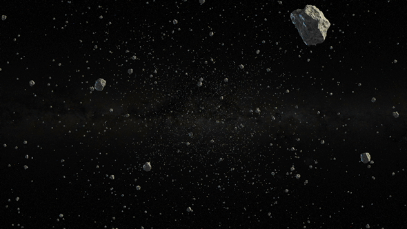 Download Through a Field of Asteroids or Meteorites in Outer Space nulled download
