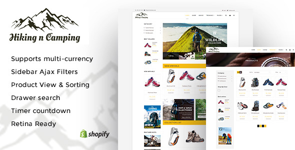 Download Hiking and Camping: An Outdoor Shopping Experience Shopify Theme nulled download
