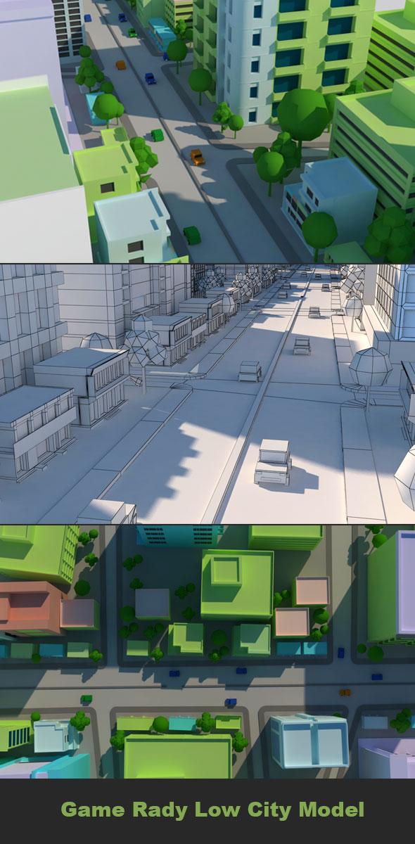 Cartoon City Model 1 - 3DOcean Item for Sale