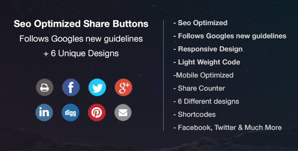 Download Seo Friendly & Optimized Share buttons nulled download