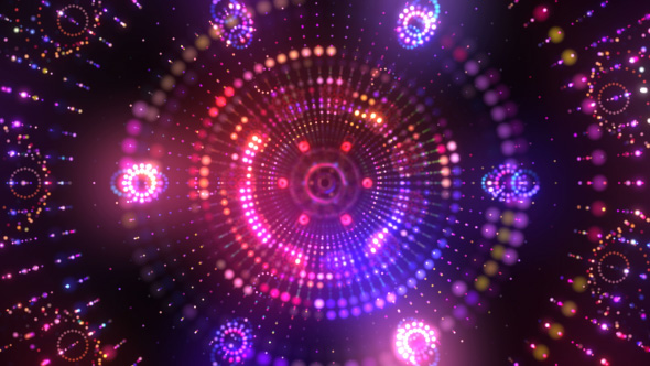 VideoHive Disco Tech Tunnel VJ Loop 19121433
