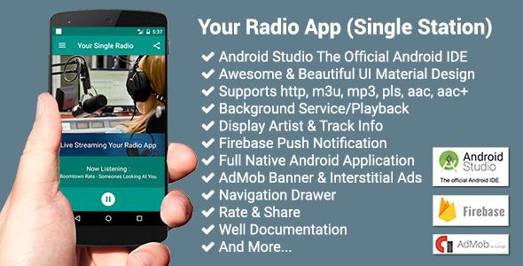 Your Radio App (Single Station)